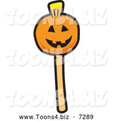 December 14th, 2013: Vector Illustration of a Halloween Pumpkin Cake Pop Dessert by Toons4Biz
