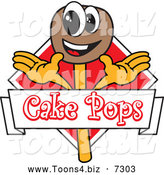 Vector Illustration of a Happy Chocolate Cake Pops Logo by Toons4Biz