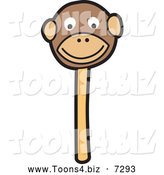 November 18th, 2013: Vector Illustration of a Happy Monkey Cake Pop Dessert by Toons4Biz