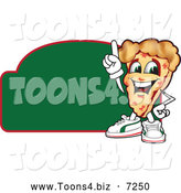 July 21st, 2013: Vector Illustration of a Happy Pizza Mascot Character Sign or Logo 5 by Toons4Biz