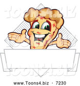 July 21st, 2013: Vector Illustration of a Happy Pizza Mascot Character Sign or Logo 7 by Toons4Biz
