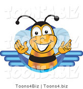 Vector Illustration of a Honey Bee Mascot Logo by Toons4Biz