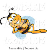 Vector Illustration of a Honey Bee Mascot Resting His Face on His Hand by Toons4Biz