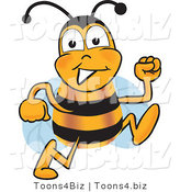 Vector Illustration of a Honey Bee Mascot Running by Toons4Biz