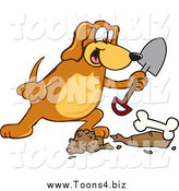December 21st, 2013: Vector Illustration of a Hound Dog Burying a BoneHound Dog Burying a Bone by Toons4Biz