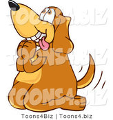 Vector Illustration of a Hound Dog Mascot Begging for a Walk or Treats by Toons4Biz