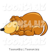 Vector Illustration of a Hound Dog Mascot Curled up and Sleeping by Toons4Biz
