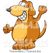 Vector Illustration of a Hound Dog Mascot Grinning by Toons4Biz