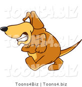 Vector Illustration of a Hound Dog Mascot with an Angry Grumpy Expression by Toons4Biz