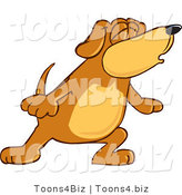 Vector Illustration of a Hound Dog Mascot with Closed Eyes, Singing or Howling by Toons4Biz
