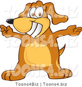 Vector Illustration of a Hound Dog Mascot with Open Arms by Toons4Biz