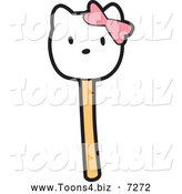 December 20th, 2013: Vector Illustration of a Kitty Cake Pop Dessert by Toons4Biz