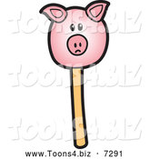 November 17th, 2013: Vector Illustration of a Piggy Cake Pop Dessert by Toons4Biz