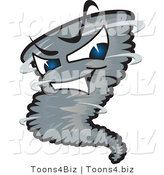 Vector Illustration of a Powerful Cartoon Tornado Mascot by Toons4Biz