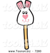 December 16th, 2013: Vector Illustration of a Rabbit Cake Pop by Toons4Biz