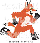 Vector Illustration of a Red Fox Mascot Running by Toons4Biz