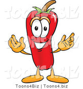 Vector Illustration of a Red Hot Chili Pepper Mascot by Toons4Biz