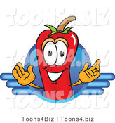 Vector Illustration of a Red Hot Chili Pepper Mascot Logo by Toons4Biz