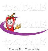 Vector Illustration of a Red Hot Chili Pepper Mascot Logo with a Purple Dash by Toons4Biz