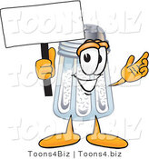 Vector Illustration of a Salt Shaker Mascot Holding a Blank Sign by Toons4Biz