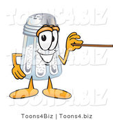 Vector Illustration of a Salt Shaker Mascot Holding a Pointer Stick by Toons4Biz