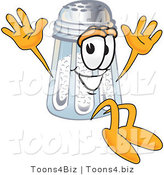 Vector Illustration of a Salt Shaker Mascot Jumping by Toons4Biz