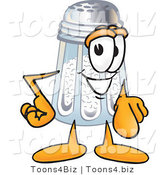 Vector Illustration of a Salt Shaker Mascot Pointing at the Viewer by Toons4Biz