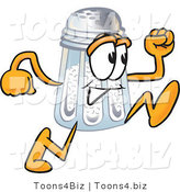 Vector Illustration of a Salt Shaker Mascot Running by Toons4Biz