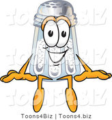 Vector Illustration of a Salt Shaker Mascot Sitting by Toons4Biz