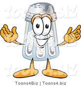 Vector Illustration of a Salt Shaker Mascot with Welcoming Open Arms by Toons4Biz