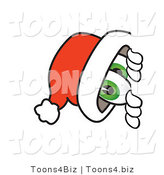Vector Illustration of a Santa Mascot Peeking Around a Corner by Toons4Biz