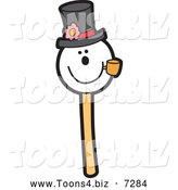 November 30th, 2013: Vector Illustration of a Snowman Wearing a Hat and Smoking a Pipe Cake Pop Dessert by Toons4Biz