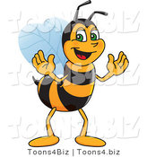 Vector Illustration of a Worker Bee Mascot by Toons4Biz