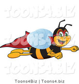 Vector Illustration of a Worker Bee Mascot Super Hero by Toons4Biz