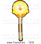 December 6th, 2013: Vector Illustration of a Yellow Chick Cake Pop Dessert by Toons4Biz