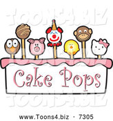 November 21st, 2013: Vector Illustration of Cake Pops and Text by Toons4Biz