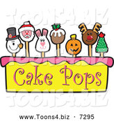 December 7th, 2013: Vector Illustration of Cake Pops and Tier by Toons4Biz