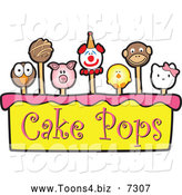 November 24th, 2013: Vector Illustration of Cake Pops over Yellow and Pink with Text by Toons4Biz