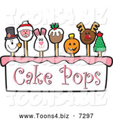 December 13th, 2013: Vector Illustration of Cartoon Cake Pops by Toons4Biz
