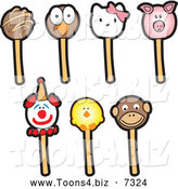 December 22nd, 2013: Vector Illustration of Cartoon Cake Pops by Toons4Biz