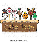December 27th, 2013: Vector Illustration of Holiday Themed Cake Pops by Toons4Biz