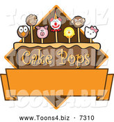 Vector Illustration of Yummy Animal Cake Pops Logo Design with Blank Copyspace - Version #3 by Toons4Biz