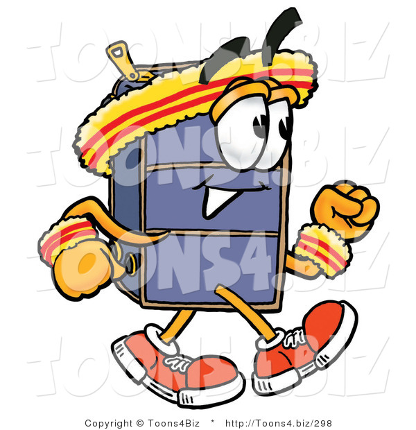 Illustration of a Cartoon Suitcase Mascot Speed Walking or Jogging