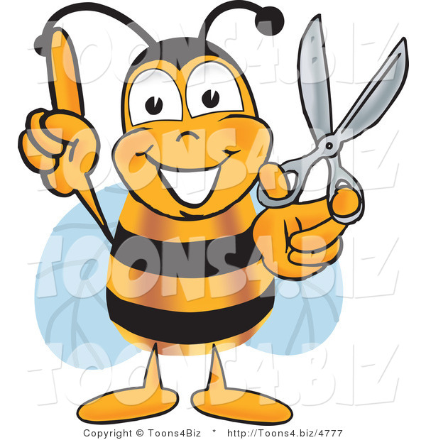 Vector Illustration of a Bee Mascot Cartoon Character