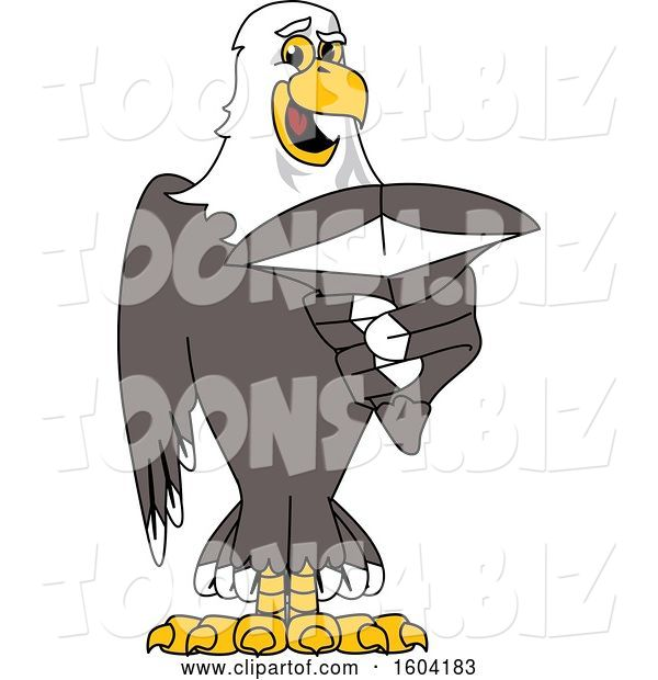 Vector Illustration of a Cartoon Bald Eagle Mascot