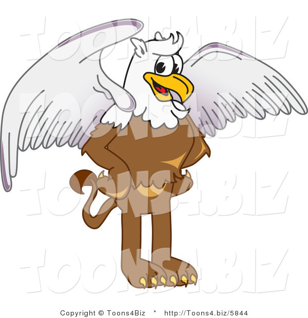 Vector Illustration of a Cartoon Griffin Mascot