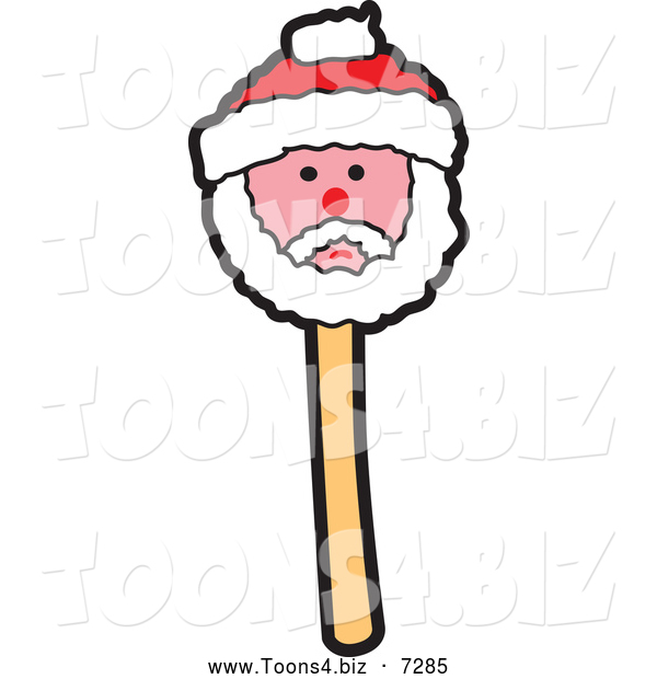 Vector Illustration of a Christmas Santa Cake Pop