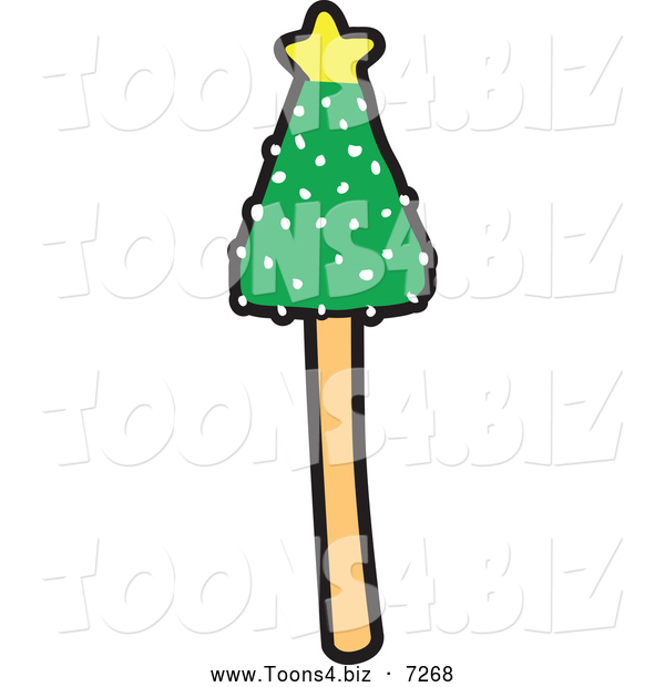 Vector Illustration of a Christmas Tree Cake Pop