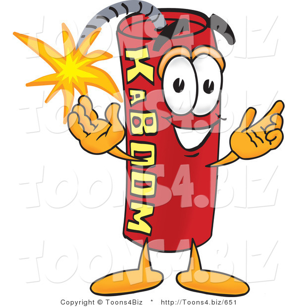 Vector Illustration of a Dynamite Stick Mascot