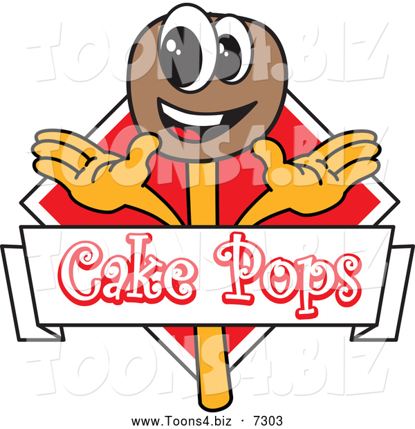 Vector Illustration of a Happy Chocolate Cake Pops Logo